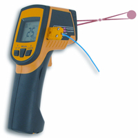Infrared thermometer with thermocouple input and double  laser ST 486